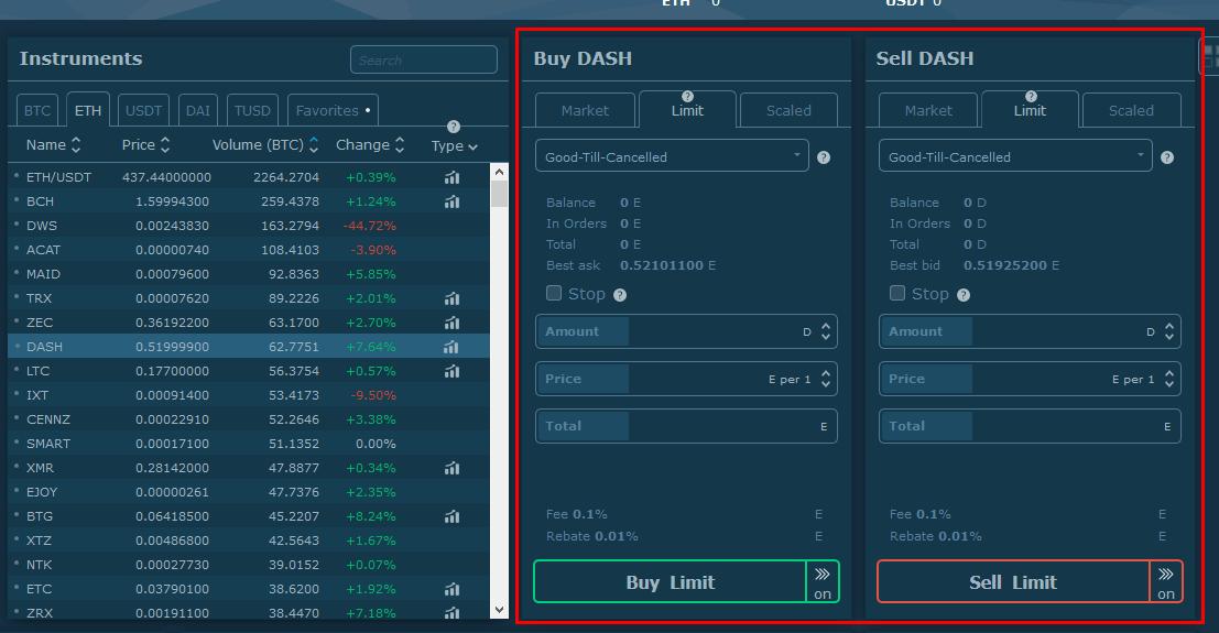 hitbtc limite mercato scalata