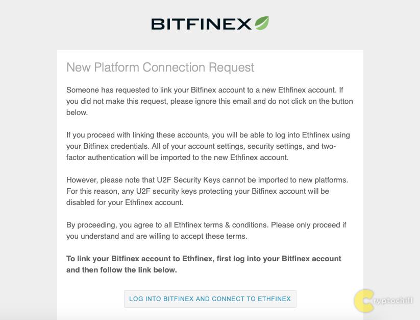 Письмо от Bitfinex