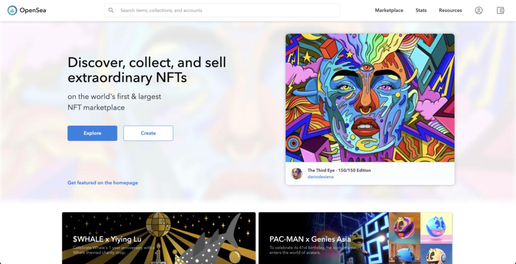 OpenSea - торговая площадка NFT